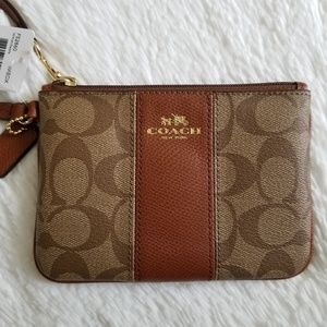 COACH Authentic Brown Small Wristlet